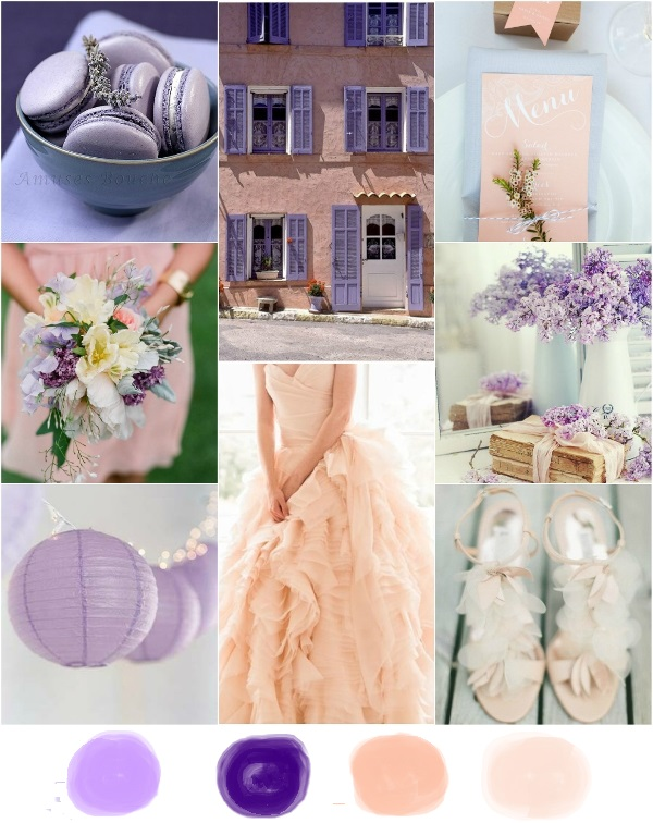 Looking Forward To Next Spring And This Colors Combination Can Be An Inspiration For The 2016 New Brides What Do You Think About Peach Purple